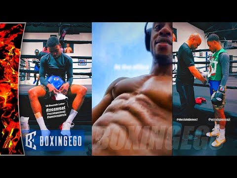 ERROL SPENCE MOST LEAN FOR MIKEY GARCIA FIGHT! SPENCE SPARRING 18 ROUNDS - WOW!