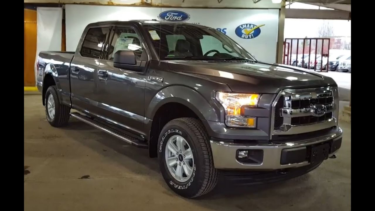 2017 grey ford f 150 4x4 supercrew xlt review pg motors youtube. Black Bedroom Furniture Sets. Home Design Ideas