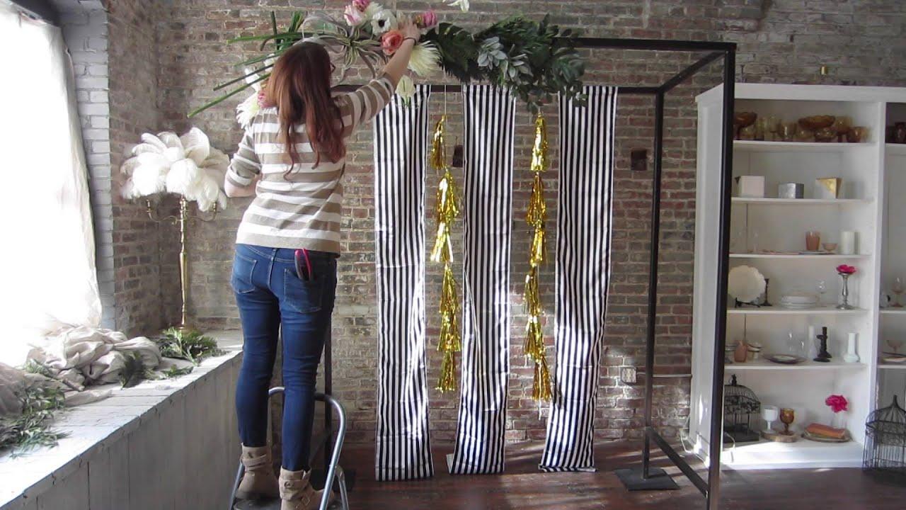Wedding Ceremony Floral Arch DIY