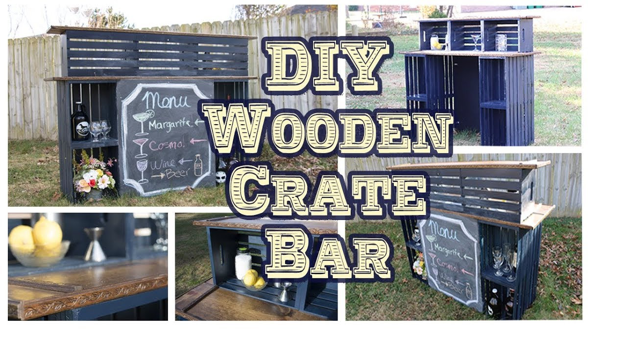 Making Our Wooden Crate Bar [Wedding DIY] - YouTube