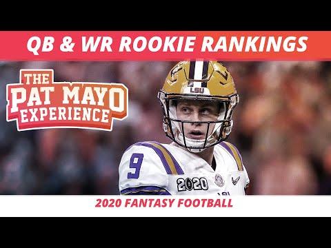 2020 Fantasy Football Rankings — Redraft, Dynasty Rookie WR Rankings, Rookie QB Rankings