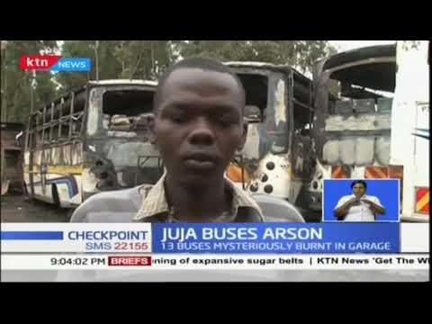 13 buses burnt down in Juja