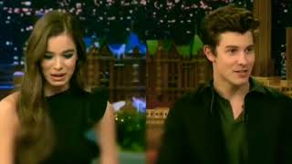 Shawn Mendes talking about DRAKE with Hailee Steinfeld on Jimmy Fallon