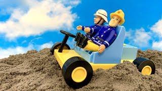 Bajka Strażak Sam i superowe autko szefa - po Polsku  Przejażdżka po piaskach