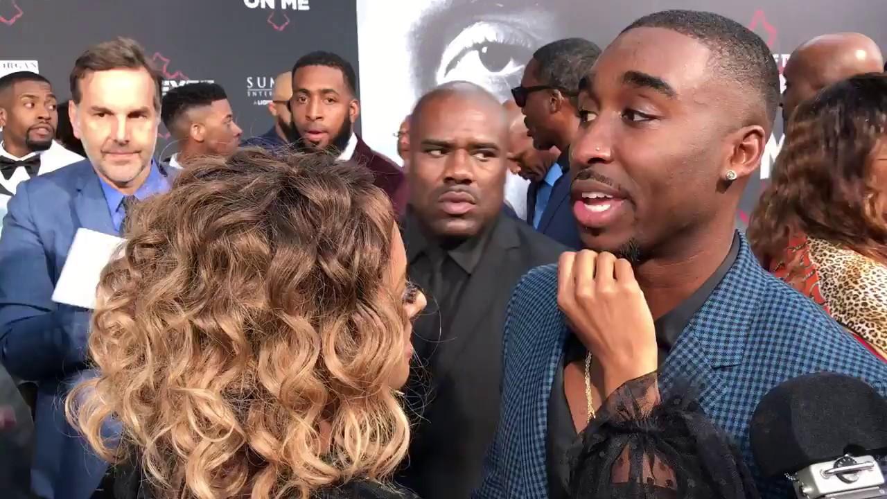 Kat Graham Flirts With Demetrius Shipp Jr At All Eyez On Me