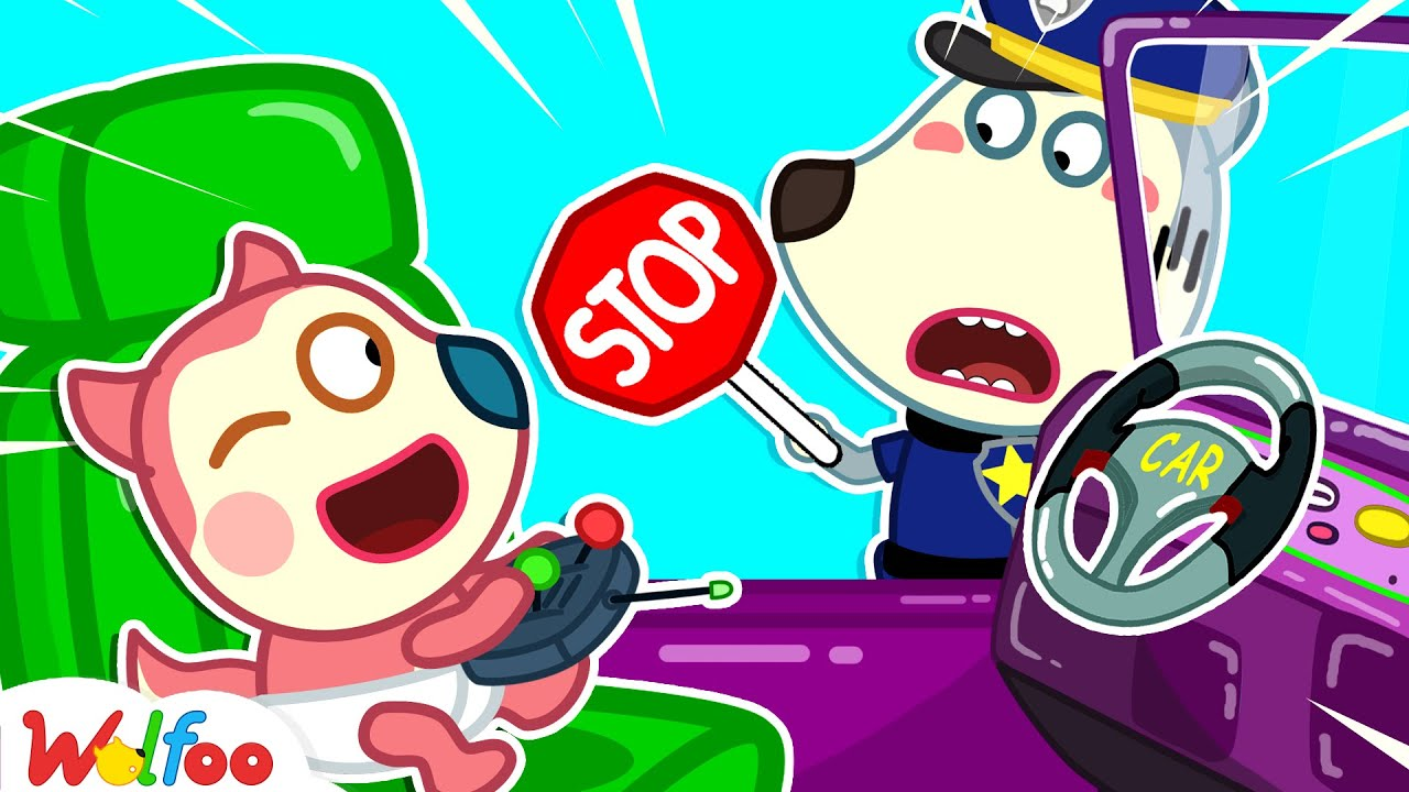 Download Stop, Baby Jenny! Don't Ride on Cars Toy by Yourself -Wolfoo Learns Kids Safety Tips| Wolfoo Channel