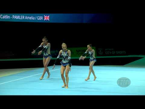 Great Britain 2 (GBR) - 2018 Acrobatic Worlds, Antwerpen (BEL) - Balance  Women's Group