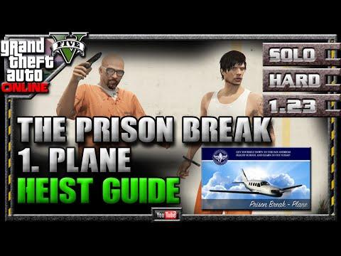 GTA 5 Online Heists - Prison Break - Plane Setup Strategy Guide Walkthrough (2 Of 6) GTAV