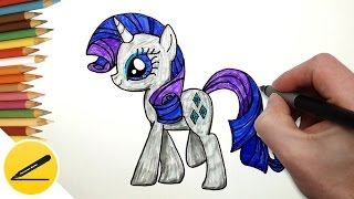 How to Draw My Little Pony Rarity Step by Step Easy ✔
