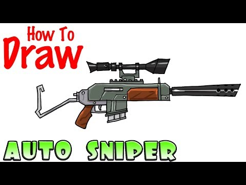 How to Draw Auto Sniper Rifle | Fortnite