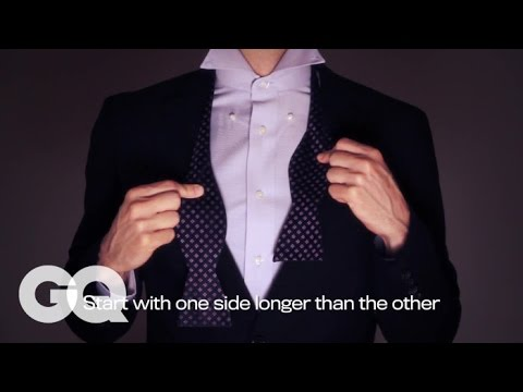 How to Tie a Bow Tie Using The Word 'Dapper'