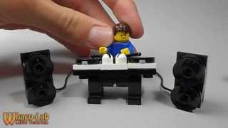 Lego Tutorial | How To Build A Turn Table With Speakers