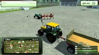 Farming Simulator 2013 - Big plough vs. Small tractor