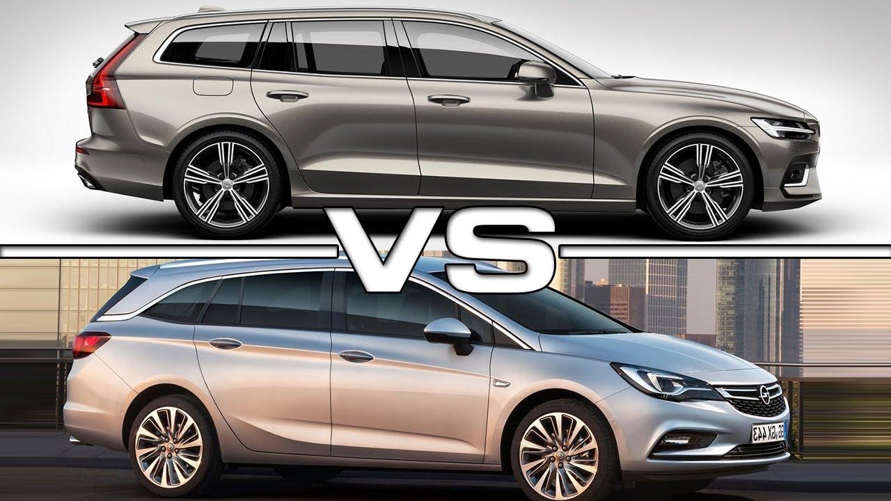 2019 Volvo V60 vs 2018 Opel Astra Sports Tourer - YouTube