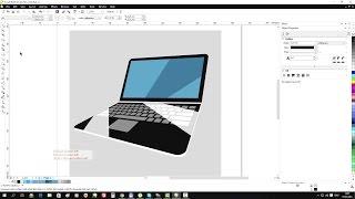 CorelDraw Tutorial: Draw Modern Laptop Icon