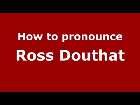 How to pronounce Ross Douthat (American English/US)  - PronounceNames.com