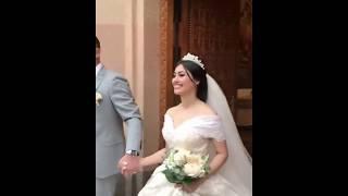 Жених и невеста выходят из церкви / Армянское венчание / Красивая армянская свадьба в Ереване 2018
