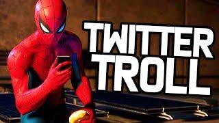 NOTRE HÉROS TROLL SUR TWITTER ! | Spider-Man PS4 (Partie 6)