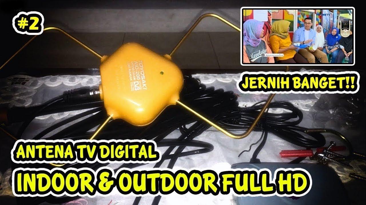 Antena Tv Digital Toyosaki Aio 200 Super Jernih Unboxing Review
