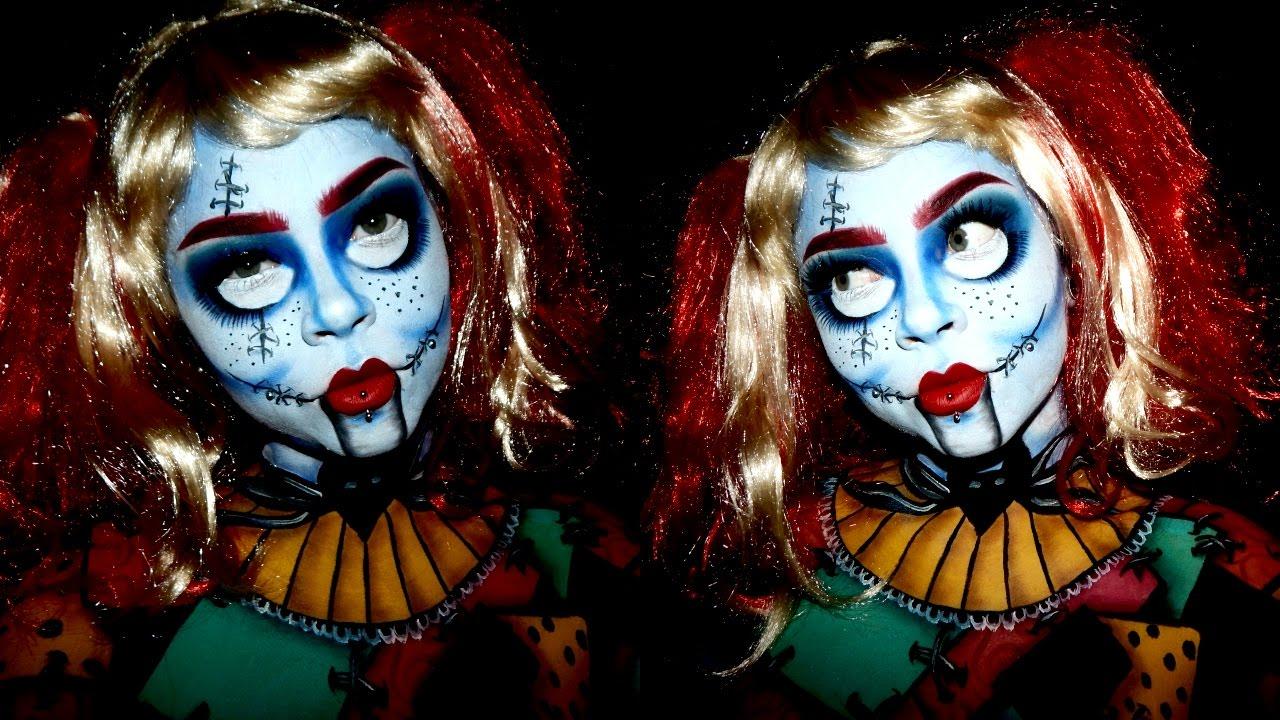 Sally Stitches Doll | HALLOWEEN MAKEUP