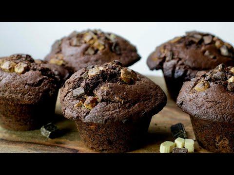 muffins-xxl-trois-chocolats-|-william's-kitchen