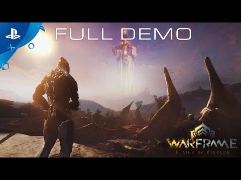 Warframe - Plains of Eidolon Gameplay Demo | PS4