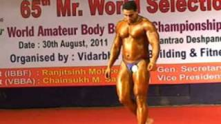bodybuilders in 100 kg weight classes (65th mr.world selection trial in Nagpur)