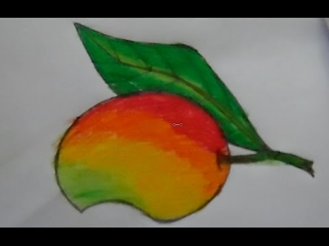 Mango Drawing And Coloring For Kids Arian Art School How Can Draw A Mango Step By Step Youtube