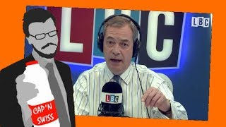 CaptainSwitzerland and Nigel Farage discuss second EU referendum - LBC