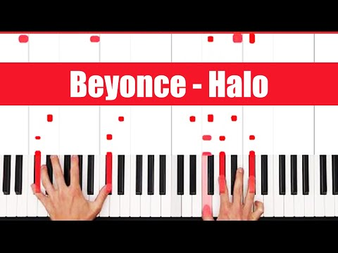 Halo Beyonce Piano Tutorial - EASY