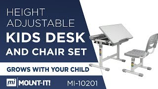 Height Adjustable Ergonomic Kids Desk and Chair Set (MI-10201)