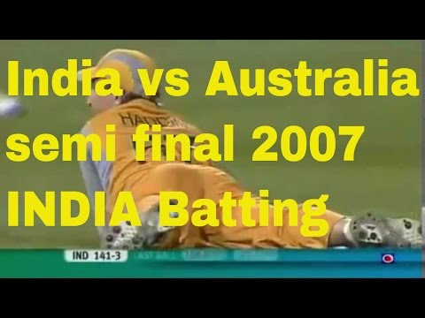 Indian team unforgettable batting in last 7 overs T20 WORLDCUP semifinal 2007
