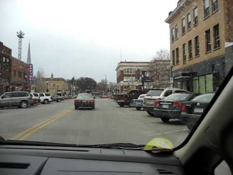 Driving around downtown Fargo