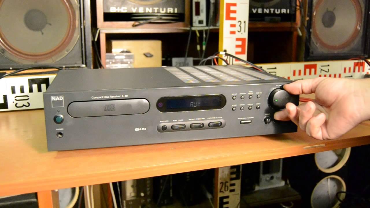 nad compact disc receiver l 40 youtube rh youtube com nad l40 service manual pdf