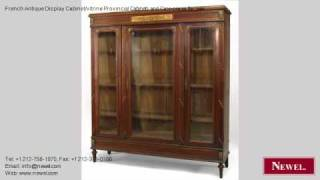 French Antique Display Cabinet/vitrine Provincial Cabinets