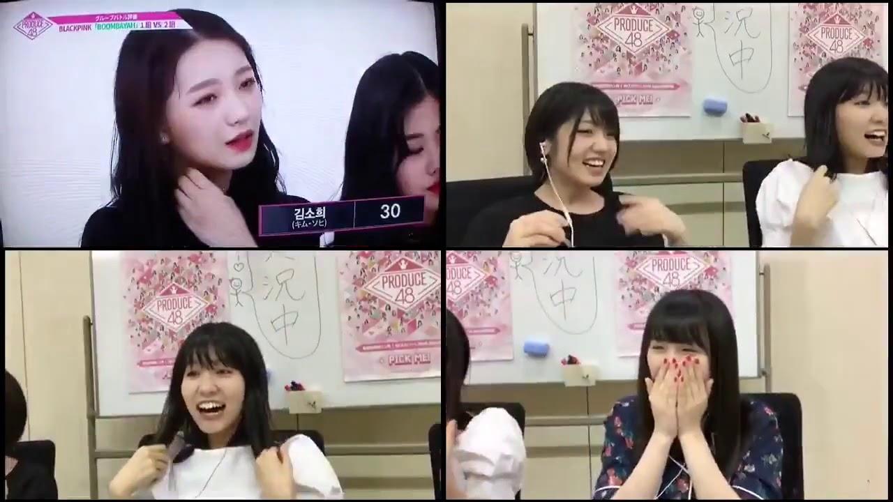 PRODUCE 48 | AKB48 (Yuirii, Megu, Sayayas) reaction at Boombayah Team 2  winning