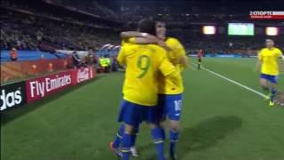чемпионат мира 2010 Бразилия 2 0 Чили Луис Фабиану