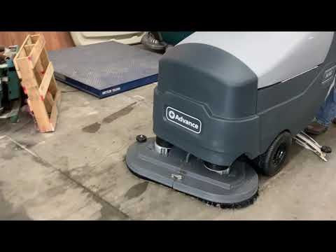 Advance 34RST Walk Behind Floor Scrubber Cleaning Floors