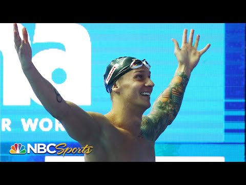 Caeleb Dressel breaks Michael Phelps' 100m butterfly World Record | NBC Sports