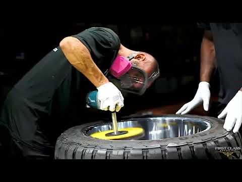 Wheel Polishing On Aluminum American Force Wheels | First Class Detailing