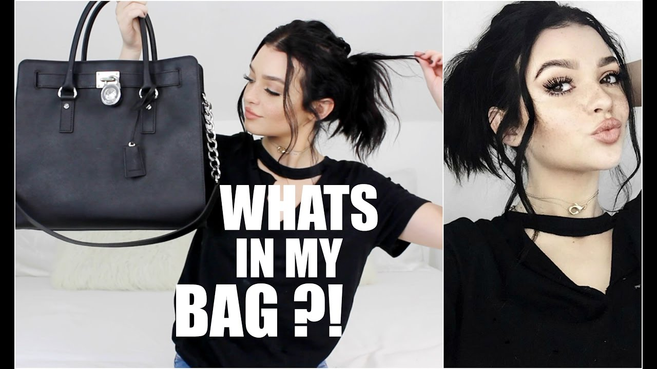 Whats in my bag kelsey simone youtube