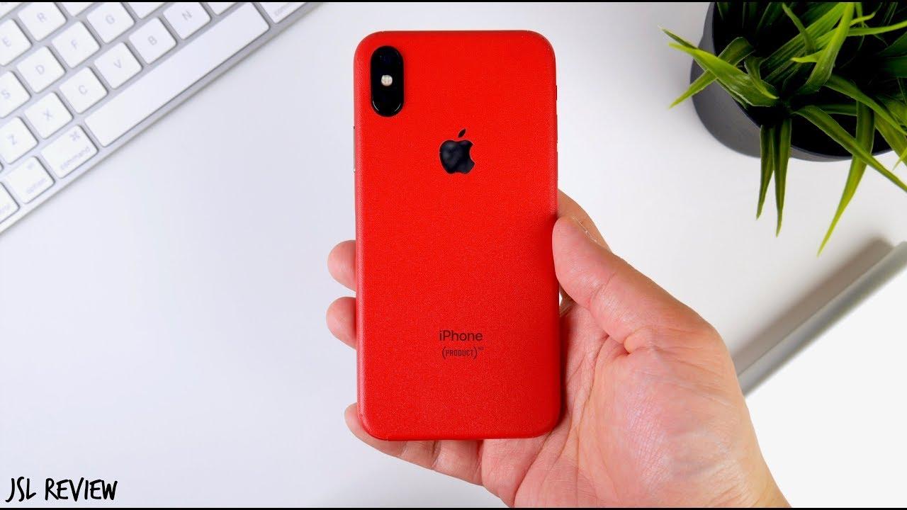 online retailer 5de40 40c01 RED iPhone X for $13 - Slickwraps iPhone X Review