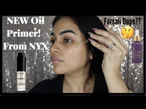 New NYX Hydratouch Oil Primer Mini Review/Tutorial | Dupe for Farsali?