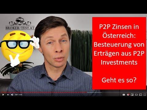 P2P Zinsen in Österreich: Besteuerung von Erträgen aus P2P Investments
