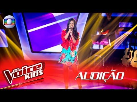 Yasmim Duarte canta 'Por Enquanto' na Audição –  The Voice Kids Brasil | 2ª Temporada