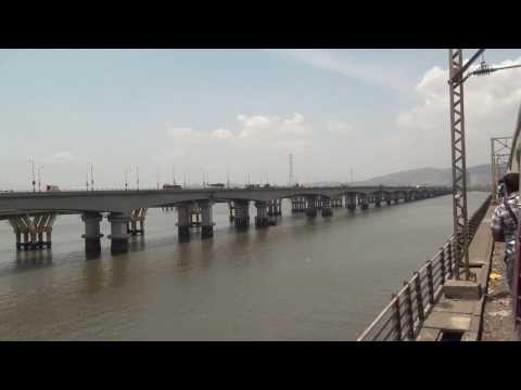 1.8Km Long Thane Creek Bridge Onboard Mumbai Suburban Local Train