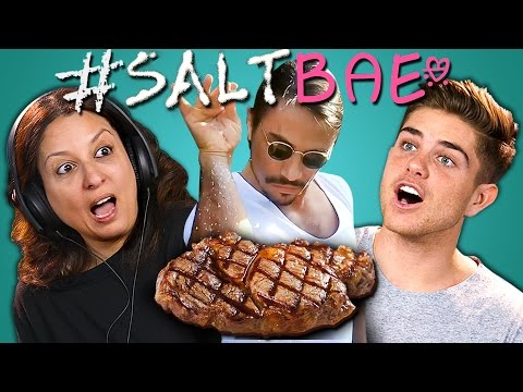 Thumbnail: ADULTS REACT TO #SALTBAE MEME COMPILATION (Oddly Satisfying Salt Bae Videos)
