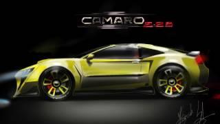 How to Draw - A Yellow camaro ( concept car ) Como desenhar um camaro amarelo !