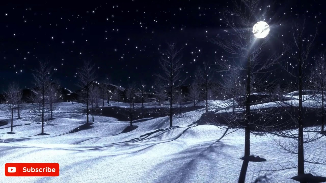 🌙Beethoven Moonlight Sonata 3-Hour Relaxation Music, Stress Relief, Study, Sleep, ❄️Wintery Scene