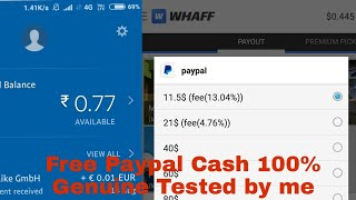 Whaff unlimited trick✅✔ |how to earn free paypal cash| free paypal money